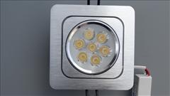 LED panel 120x120mm, 7W, 600lm -