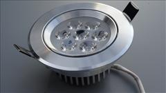 LED stropní svítidlo 7W, 110mm, 600lm -