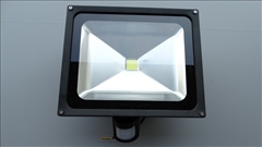 LED reflektor 50W s čidlem, IP65, 280x240mm -